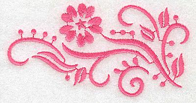 Embroidery Design: Floral design I partial 3.88w X 1.99h