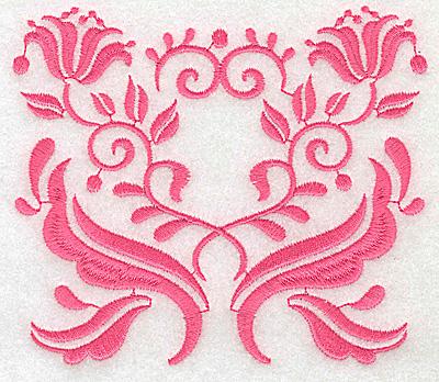 Embroidery Design: Floral design J large 4.92w X 4.29h
