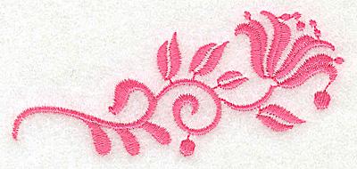 Embroidery Design: Floral design J partial 3.50w X 1.53h
