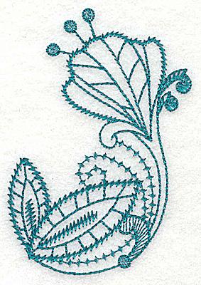 Embroidery Design: Stylized flower 2.67w X 3.87h