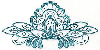 Embroidery Design: Floral fan large 6.81w X 3.39h