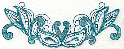 Embroidery Design: Leaf swirls large 6.96w X 2.70h