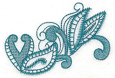 Embroidery Design: Leaf swirls  3.76w X 2.53h