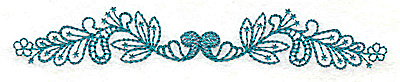 Embroidery Design: Floral leaf border small 4.97w X 0.81h