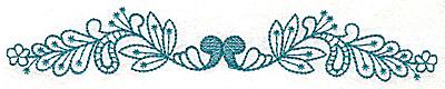 Embroidery Design: Floral leaf border large 6.97w X 1.13h
