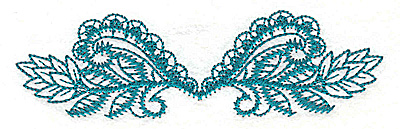 Embroidery Design: Swirls and leaves small 4.91w X 1.42h