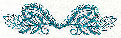 Embroidery Design: Siwrls and leaves large 6.98w X 2.00h