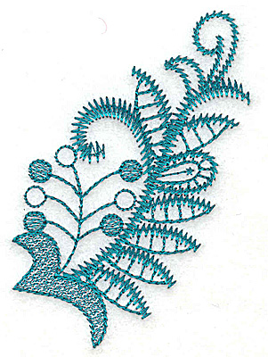 Embroidery Design: Stylized leaves and berries 2.48w X 3.54h