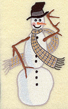 Embroidery Design: Snowman tall (large) 3.93w X 6.50h