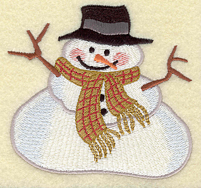Embroidery Design: Snowman chubby (large) 4.09w X 3.84h