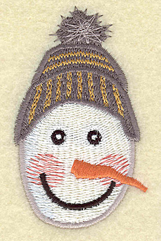 Embroidery Design: Snowman head B large 1.81w X 3.07h