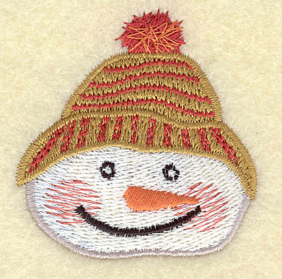 Embroidery Design: Snowman head C small 2.03w X 2.12h