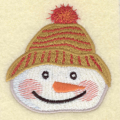 Embroidery Design: Snowman head C large 2.83w X 2.99h