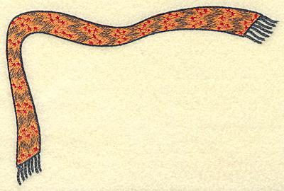 Embroidery Design: Corner scarf B large 6.80w X 4.54h