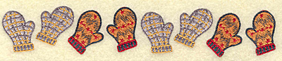 Embroidery Design: Mittens border 6.84w X 1.19h