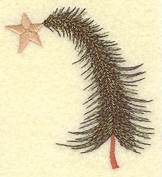 Embroidery Design: Christmas tree bent small 2.82w X 3.14h