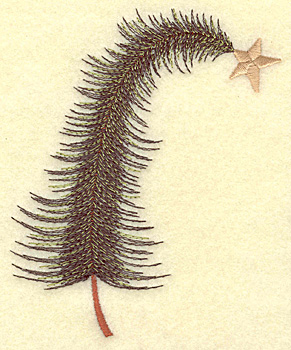 Embroidery Design: Christmas tree bent medium 3.98w X 4.80h