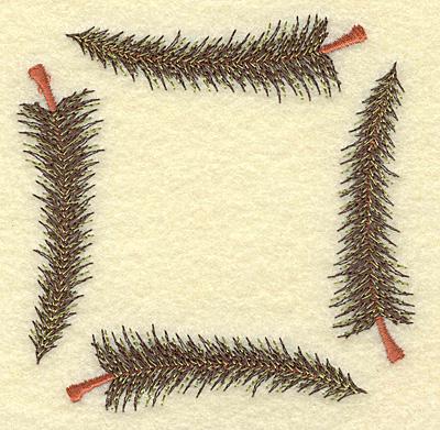 Embroidery Design: Pine tree frame B 3.83w X 3.83h
