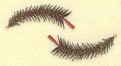 Embroidery Design: Pine tree duo 3.76w X 1.99h