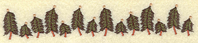 Embroidery Design: Christmas tree border 6.94w X 1.20h