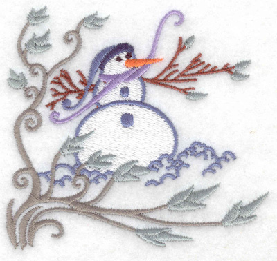Embroidery Design: Snowman 1 small 3.79w X 3.60h