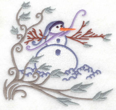 Embroidery Design: Snowman 1 large 4.92w X 4.68h