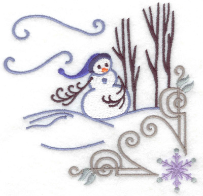 Embroidery Design: Snowman 2 large 4.99w X 4.98h