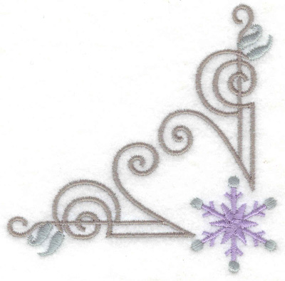 Embroidery Design: Pattern with snowflake 3.54w X 3.54h