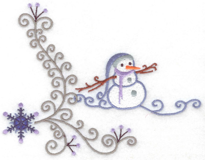 Embroidery Design: Snowman 3 large 6.34w X 4.91h