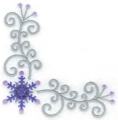 Embroidery Design: Swirls and snowflake 3.77w X 3.81h
