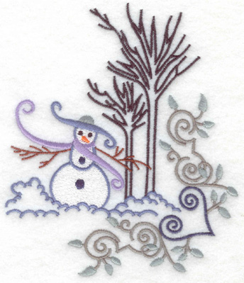 Embroidery Design: Snowman 4 large 5.72w X 4.87h