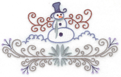 Embroidery Design: Snowman 5 large 6.92w X 4.30h