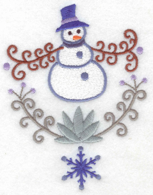 Embroidery Design: Snowman 6 large 3.82w X 4.98h