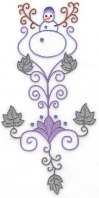 Embroidery Design: Snowman 8 large 9.88w X 4.92h