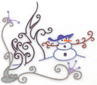 Embroidery Design: Snowman 9 large  5.57w X 4.94h