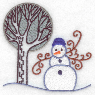 Embroidery Design: Snowman 10 small  3.81w X 3.85h