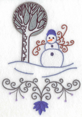 Embroidery Design: Snowman 10 large 6.98w X 4.80h