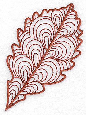Embroidery Design: Leaf 1 medium 3.60w X 4.93h
