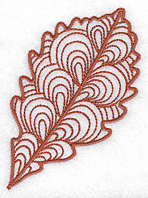 Embroidery Design: Leaf 1 small 3.50w X 2.58h