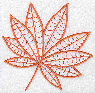Embroidery Design: Leaf 2 large 7.06w X 6.92h