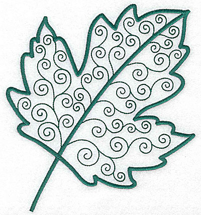 Embroidery Design: Leaf 3 large 6.33w X 7.07h