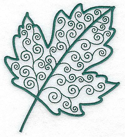 Embroidery Design: Leaf 3 medium 4.46w X 4.98h