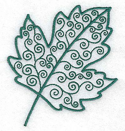 Embroidery Design: Leaf 3 small 3.17w X 3.51h