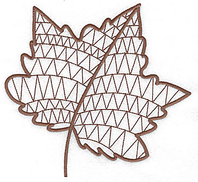 Embroidery Design: Leaf 4 large 7.07w X 6.66h