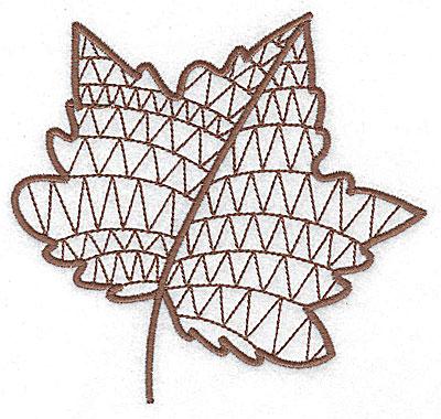 Embroidery Design: Leaf 4 medium 4.98w X 4.69h