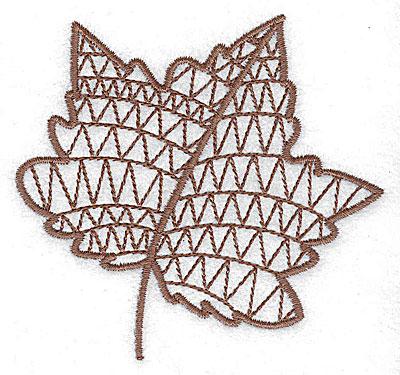 Embroidery Design: Leaf 4 small 3.50w X 3.29h
