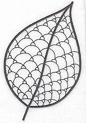 Embroidery Design: Leaf 5 large 4.63w X 7.05h