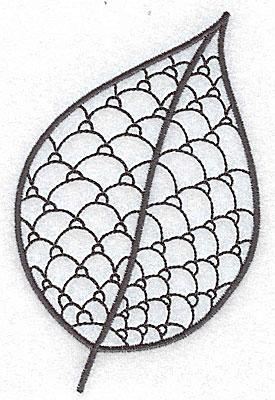 Embroidery Design: Leaf 5 medium 3.24w X 4.93h