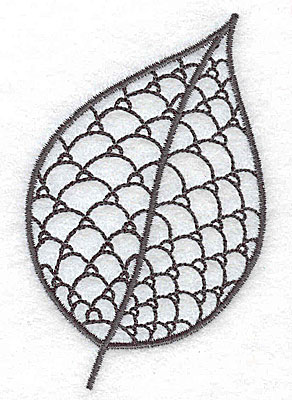 Embroidery Design: Leaf 5 small 2.30w X 3.51h