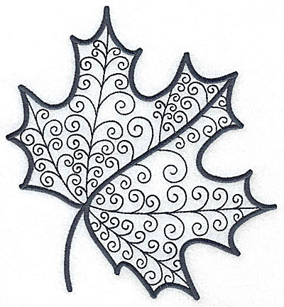 Embroidery Design: Leaf 6 large 6.45w X 7.01h